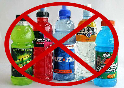 No sports drinks