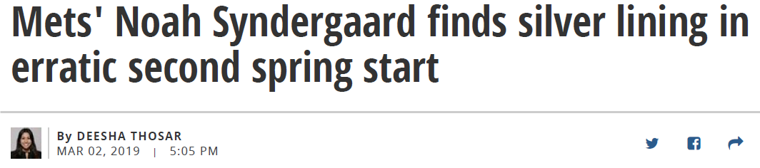 Syndergaard Struggling Article Title